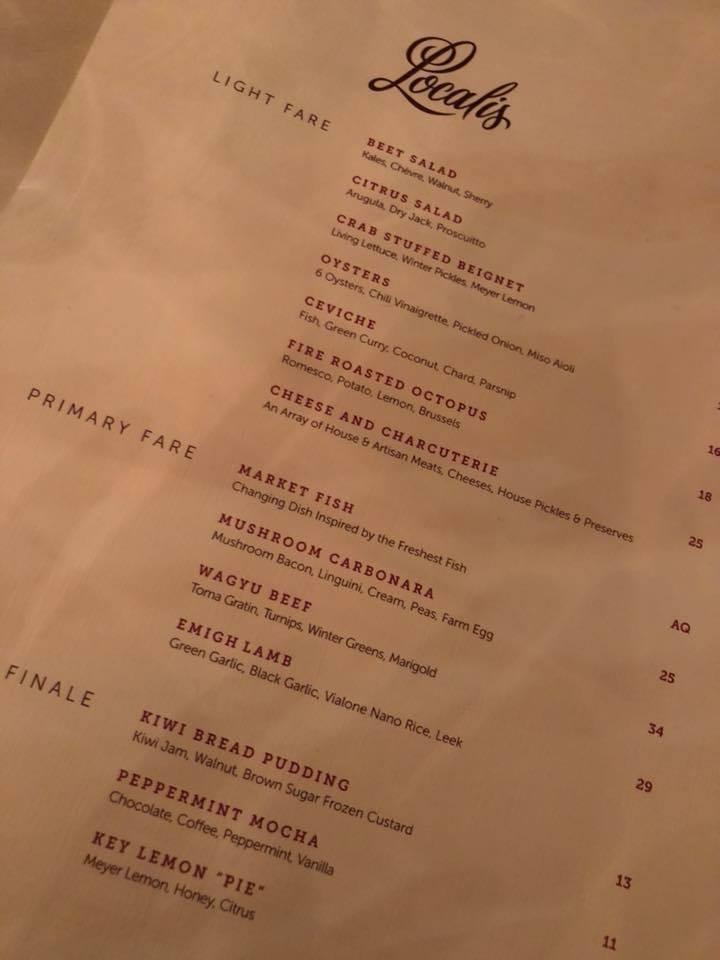 localis menu